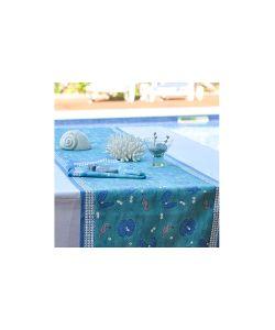 Mas d'Ousvan | Дорожка Hippocampe Turquoise /Морской Конек Бирзовый- 45180См 100 Хлопок