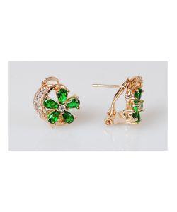 Lotus Jewelry | Серьги Фианит Весенний Цветок
