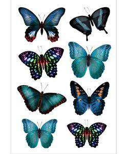 DECORETTO | Виниловые Наклейки Бирзовые Бабочки