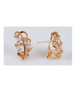 Lotus Jewelry | Серьги Хрусталь 3 Рис Циркон