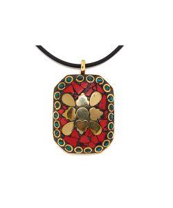 Indira   Подвеска Со Шнурком Tibetan Mosaic