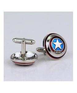 Churchill accessories | Запонки Со Звездой Супергерой Капитан Америка