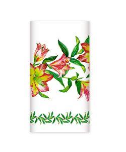Bulgaree Green | Одноразова Бумажна Скатерть С Рисунком Лилии 20Х180 См