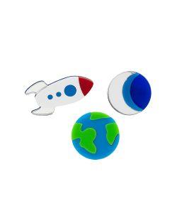 НечегоНадеть | Комплект Planet Earth Half Moon Rocket Ship