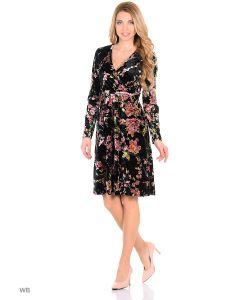 MeiLLer | Элегантное Платье С Запахом И С V-Образным Вырезом Горловины Из Бархата