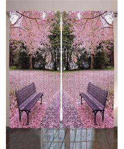 Magic Lady | Комплект Фотоштор Дл Гостиной Цветущие Луга И Деревь Плотность Ткани 175