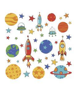 ROOMMATES | Наклейки Дл Декора Планеты И Ракеты