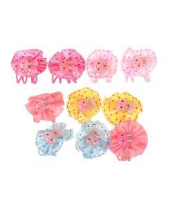 Радужки | Резинки Дл Волос С Зайками В Разноцветных Бантах Набор 5 По