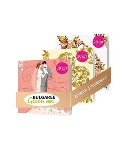 Bulgaree Green | Набор Свадебный Набор Из 3 Упаковок Трехслойных Салфеток С Рким Принтом