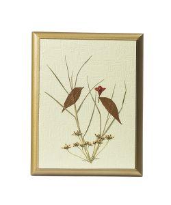 DEEPOT | Картина Сувенир Гербарий Птички На Дереве