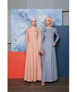 Bella Kareema | Платье Приталенное Из Джинсы С Брошью