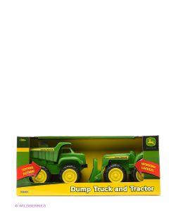 TOMY | Игровой Набор Трактор И Самосвал John Deere