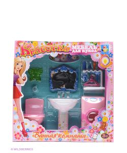 1Toy | Набор Мебели Для Кукол С Подсветкой Ванная Со Стиральной Машинкой