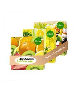 Bulgaree Green | Набор Летний Пикник Из 3 Упаковок Трехслойных Салфеток С Рким Принтом