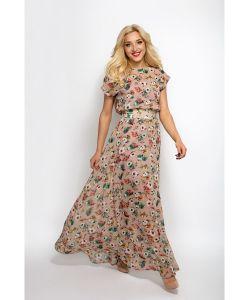Welldress   Платье В Пол Шифоновое