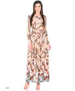 ANASTASIA PETROVA | Длинное Платье Абрикосовый Бисквит