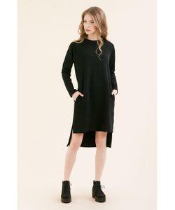 Monoroom | Платье-Свитшот Реглан Черное Kw3 M 44-46