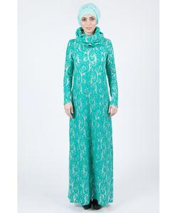 Bella Kareema   Платье Макси Трикотажное Со Съемным Воротником