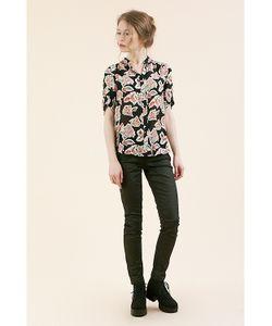 Monoroom | Sp14 Блузка Lima В Крупный Цветок Черная