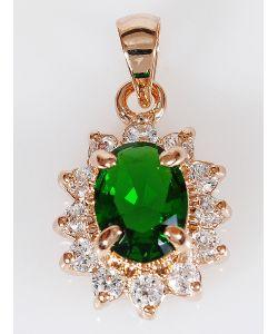 Lotus Jewelry | Кулон Фианит Малый Овал В Цирконах