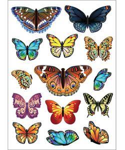 DECORETTO | Виниловые Наклейки Яркие Бабочки