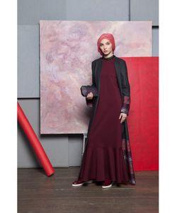 Bella Kareema | Платье Базовое Трикотажное С Воланом
