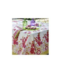Mas d'Ousvan | Скатерть Flowery Цветы 150150См 100 Хлопок
