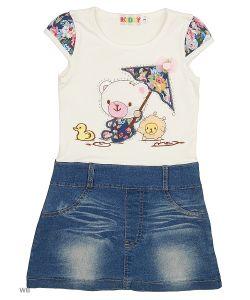 Kidly   Платье С Джинсовой Бкой