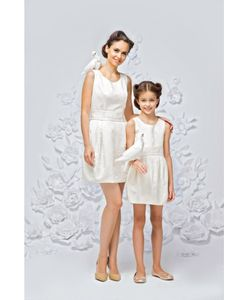 Gioia di Mamma | Платье Праздничное Из Белого Жаккарда