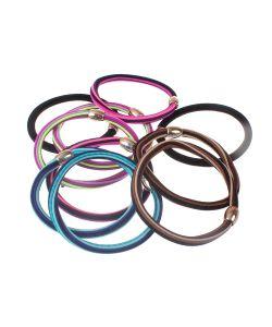 Радужки | Резинки Дл Волос Многоцветные С Овальной Пржкой 5 См Набор