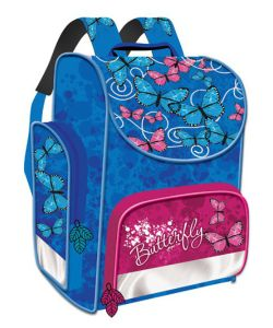 Limpopo | Ранец Premium Box Бабочки-Цветочки Жесткий Каркас Чер-