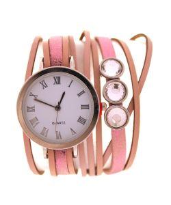 Tina Bolotina | Часы На Длинном Ремешке Розово-Бежевые