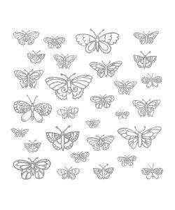 ROOMMATES | Наклейки Дл Декора Мерцащие Бабочки