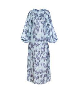 Bella Kareema | Платье Макси Прямое С Пышным Рукавом