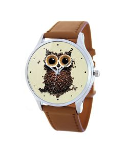 Tina Bolotina | Дизайнерские Часы Кофейная Сова