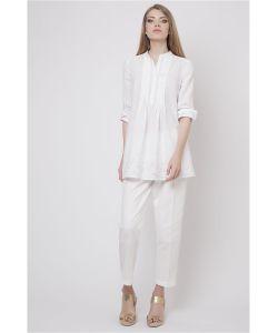 RIJJINI | Рубашка-Туника Из Батистового Шитья