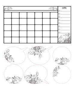 ROOMMATES | Наклейки Дл Декора Календарь Дл Заметок Стиращиес Записи