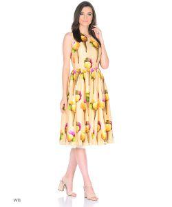 MeiLLer | Платье Из Шифона С Принтом Мороженое.