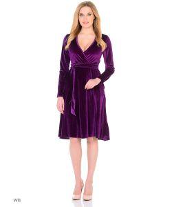 MeiLLer | Элегантное Платье С Запахом Из Бархата.
