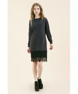 Monoroom | Платье С Кружевом Темно Kw4 One-Size 42-46
