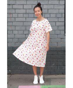 Monoroom | Платье 3 Перчики На Белом Kw2 One-Size 42-46