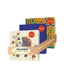 Bulgaree Green | Набор Национальные Мотивы Из 3 Упаковок Трехслойных Салфеток С Рким Принтом
