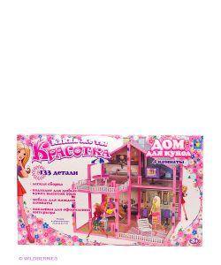 1Toy | Дом Для Кукол Красотка 133 Детали 4 Комнаты