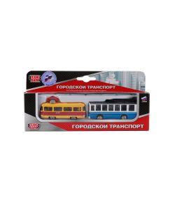 Технопарк | Набор Из 2-Х Металлических Моделей 75См Городской Транспорт