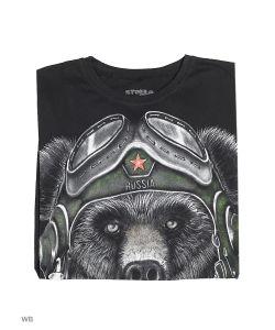 Stella | Футболка Медведь В Шлеме Ботал