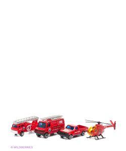 WELLY | Игровой Набор Служба Спасения Пожарная Команда 4 Шт.