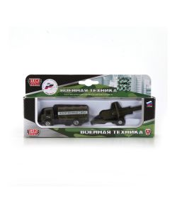 Технопарк | Машина Металлическая 75См С Пушкой