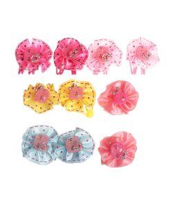 Радужки | Резинки Дл Волос С Котиками В Разноцветных Бантах Набор 5 По