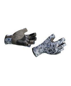 Buff | Перчатки Рыболовные Pro Series Angler Gloves Fish Camo Серо Камуфляж