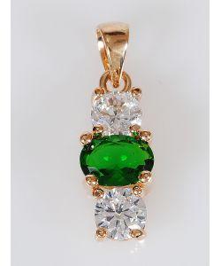 Lotus Jewelry | Кулон Фианит 3 Камня